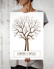 lamina-huellas-boda-arbol-marron-2