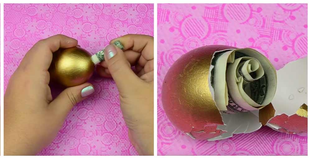 regalar-dinero-huevo-pintado