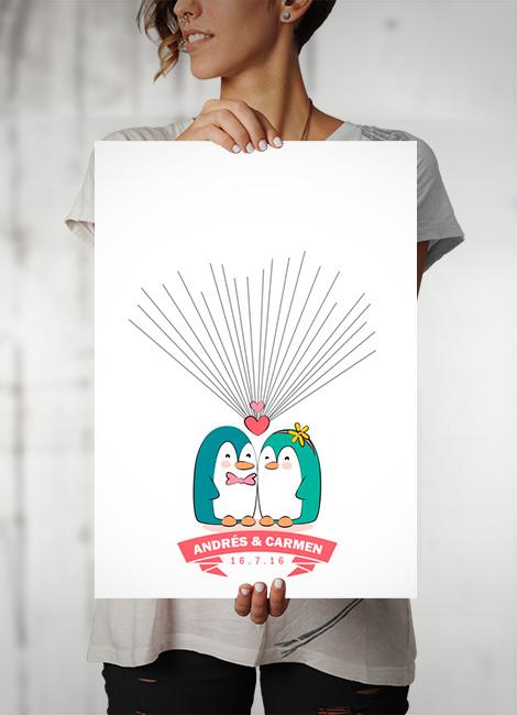 laminas-huellas-bodas-pinguinos-2
