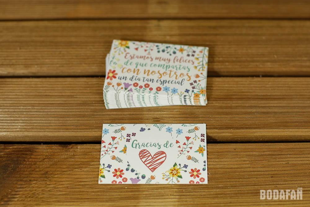 tarjetas de agradecimiento para bodas con motivos florales
