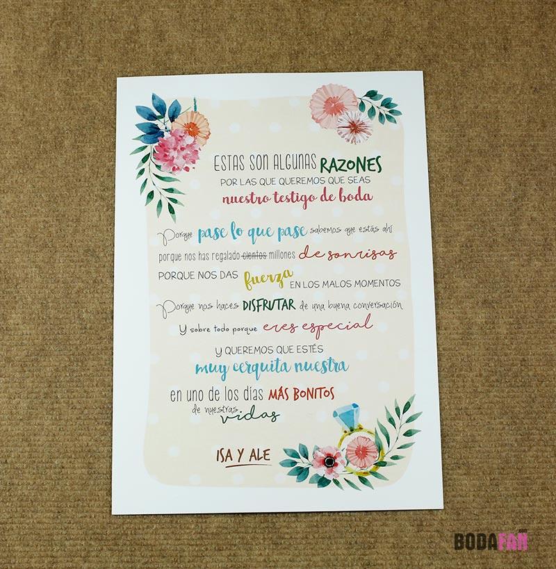 Regala un kit personalizado a tus testigos de boda for Regalos de aniversario de bodas para amigos
